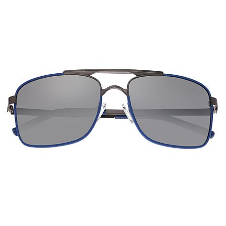 Breed Draco Polarized Sunglasses with Silver Frames and Black Lenses
