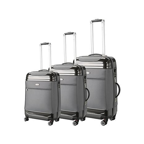 Brio Luggage Hard and Soft Hybrid Luggage 3 -piece Set - 8491446 | HSN