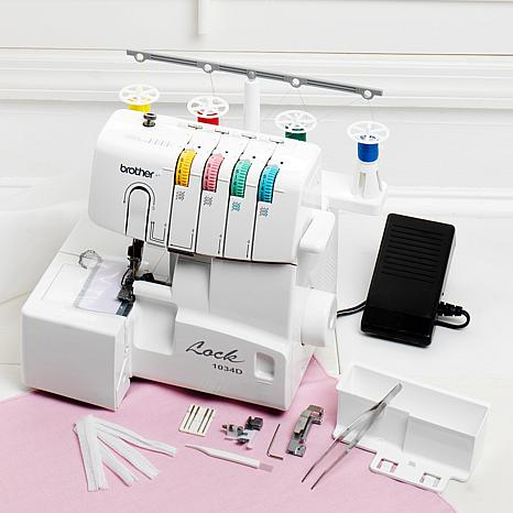 4040 Serger With BuiltIn Threader And CD 40400940240 HSN Impressive Brother Serger Sewing Machine
