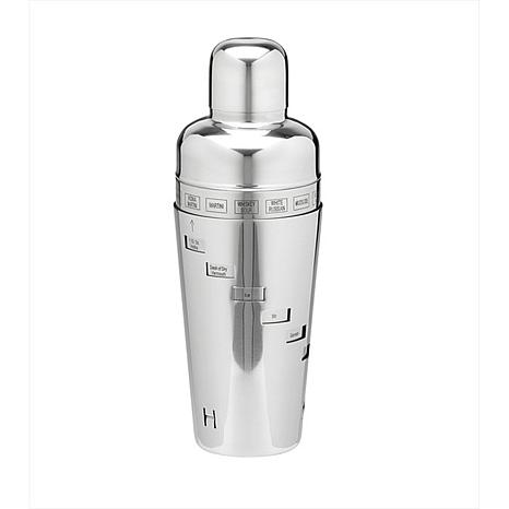 Brushed Steel 32 oz. Double Wall Cocktail Shaker