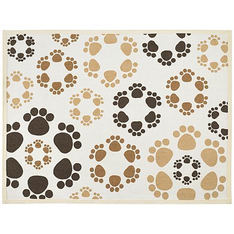 Buddy's Fashion Forward Cotton Dog Bowl Mat