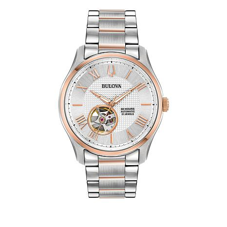 Bulova Men's 2-Tone Rosetone Stainless Steel Bracelet Automatic Watch