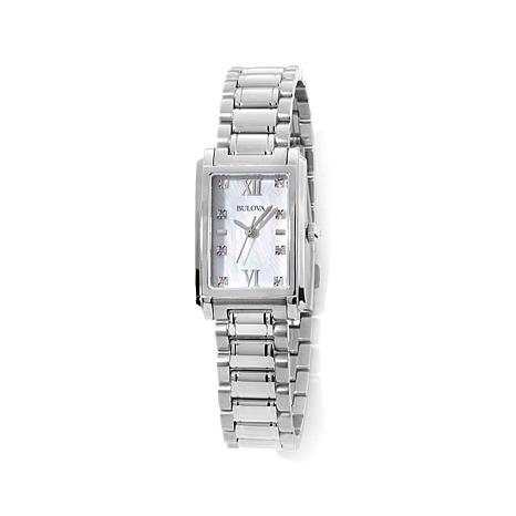 Bulova Rectangular Mother-of-Pearl Dial Bracelet Watch