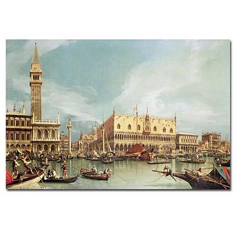 """Canaletto 'The Molo Venice' 16"""" x 24"""" Canvas Print"""