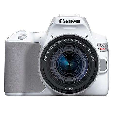 Canon EOS Rebel SL3 White DSLR Camera with 18-55mm Lens