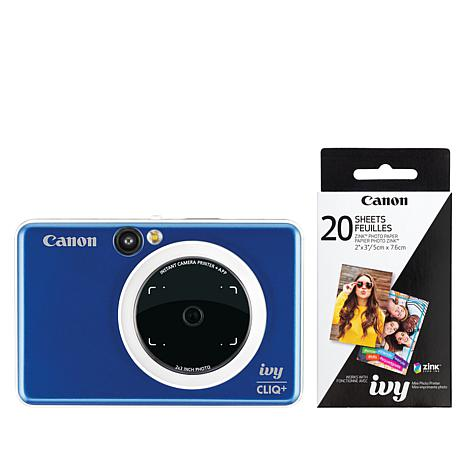 Canon IVY Cliq+ Camera Printer with 30-pack of Zink Paper