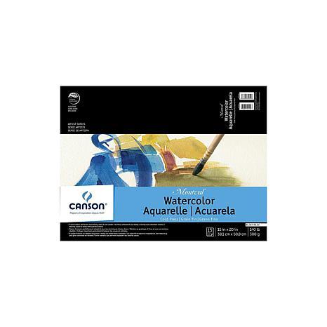 "Canson Montval Watercolor Paper 15"" x 20"" Pad of 12 140 lb. Cold Press"