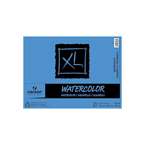 "Canson XL Watercolor Pad 11"" x 15"" - 30 Sheets"