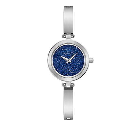 Caravelle Blue Multi Crystal Dial Semi Bangle Watch