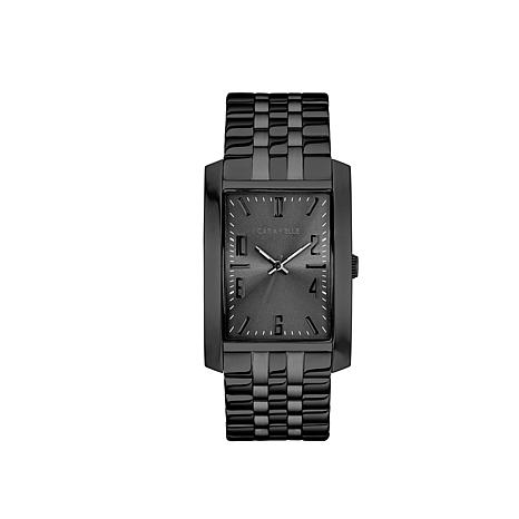 Caravelle Men's Black Dress Watch