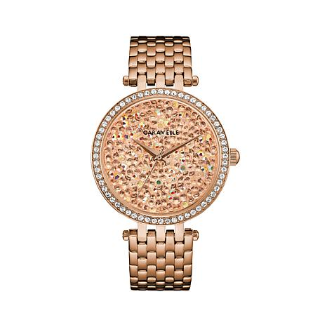 Caravelle Multi Crystal Dial Bracelet Watch