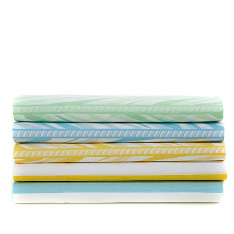 Carleton Varney 100% Cotton Printed 4-piece Sheet Set