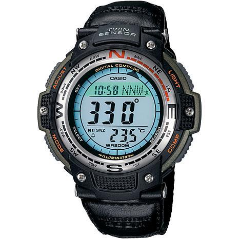 Casio Men's Green Sports Gear Digital Compass Watch