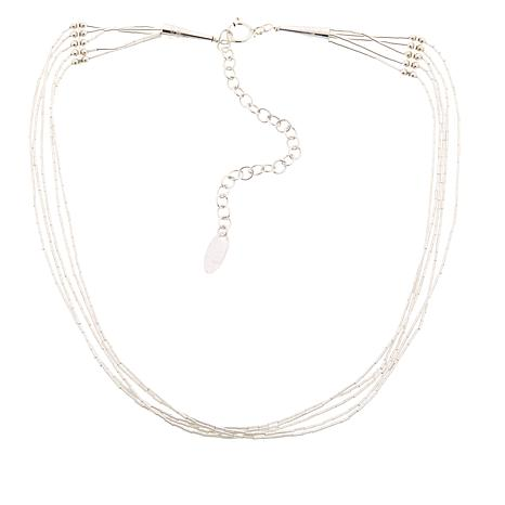 "Chaco Canyon 5-Strand ""Liquid Silver"" 13-1/2"" Choker Necklace"