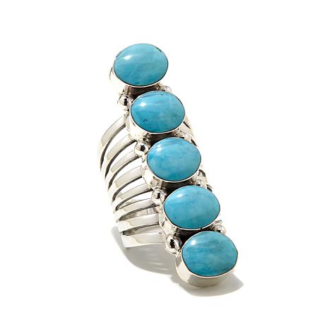 Chaco Canyon Kingman Turquoise Elongated Ring