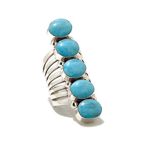Chaco Canyon Kingman Turquoise Elongated Ring