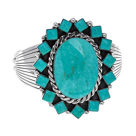 Chaco Canyon Kingman Turquoise Oval Cuff Bracelet