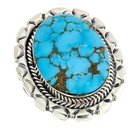 Chaco Canyon Oval Kingman Turquoise Statement Ring