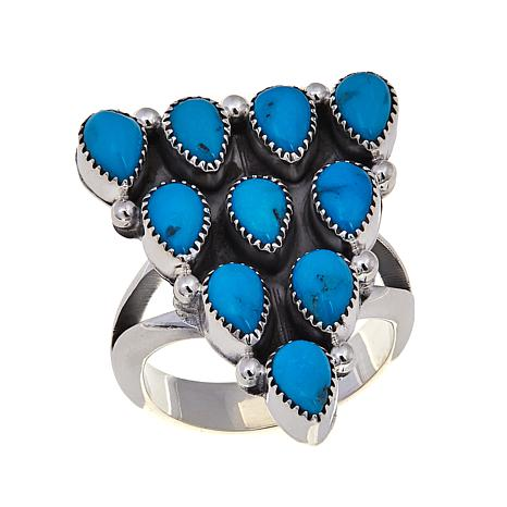 Chaco Canyon Sleeping Beauty Turquoise Geometric Ring