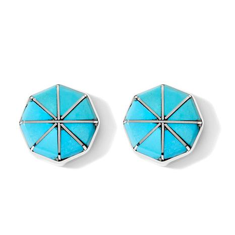 Chaco Canyon Southwest Turquoise Inlay Earrings