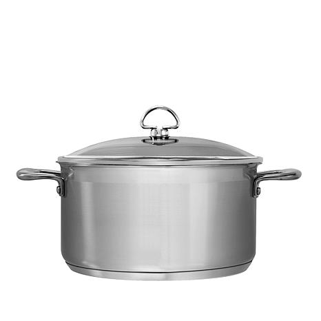 chantal induction 21 6 quart stainless steel casserole with lid 7615631 hsn. Black Bedroom Furniture Sets. Home Design Ideas