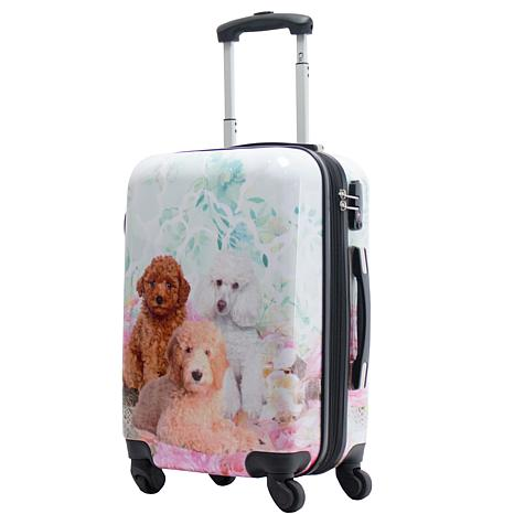 Chariot 20-inch Hardside Carry On Luggage - Garden Poodle