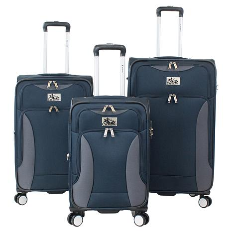 Chariot 3-piece Softside Spinner Luggage Set - Madrid