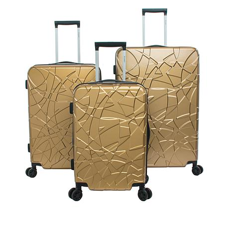 Chariot Crystal Hardside 3-piece Luggage Set