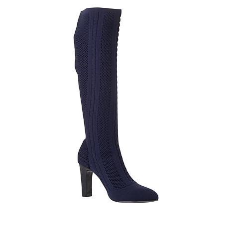 Charles by Charles David Pointed-Toe Fabric Tall Boot