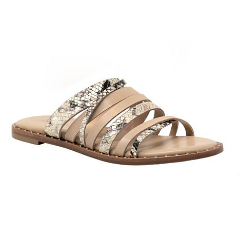 Charles David SOURCE Strappy Snake Print Leather Sandal