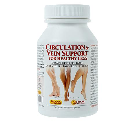 Circulation and Vein Support for Healthy Legs - 30 Caps