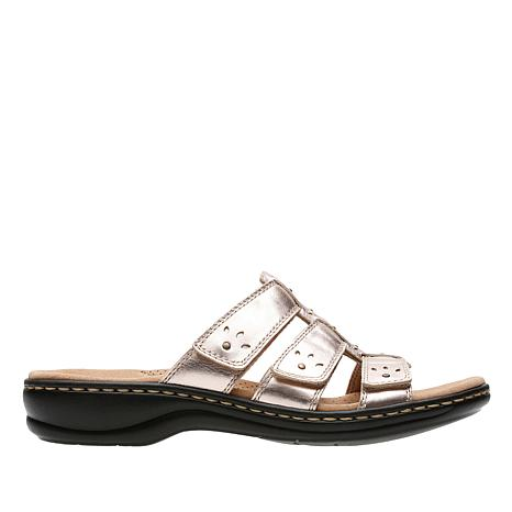 Clarks Leisa Spring Leather Triple Strap Sandal