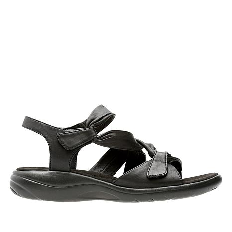 Clarks Saylie Moon Leather Adjustable Sandal