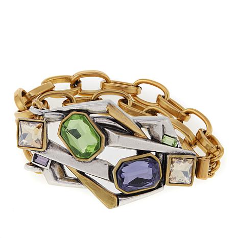 "CLB NYC ""Concrete Jungle"" Colored Crystal Bracelet"