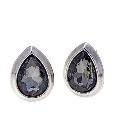"CLB NYC ""Crystal Fountain"" Stud Earrings"