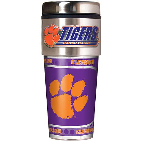 Clemson Tigers Travel Tumbler w/ Metallic Graphics and Team Logo