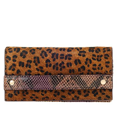 Clever Carriage Exotic Romance Haircalf and Leather Wallet