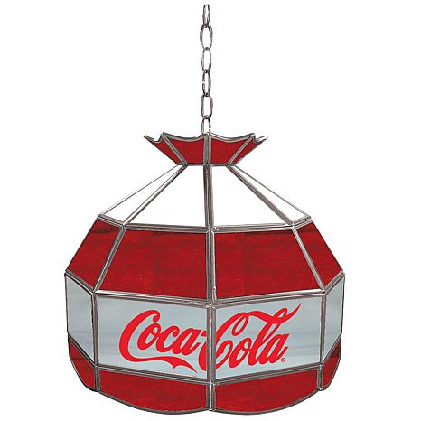 """Coca-Cola 16"""" Stained-Glass Lamp - Red, White and Gray"""