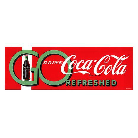 """Coca-Cola """"Go Drink"""" Canvas Art"""