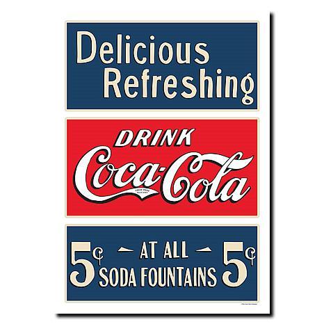 Coca-Cola Soda Fountain Canvas Art - 18 x 24