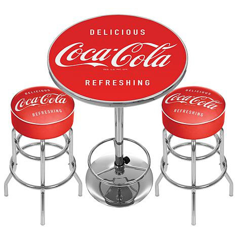 Coca-Cola Ultimate Gameroom Combo - 2 Bar Stools/Table