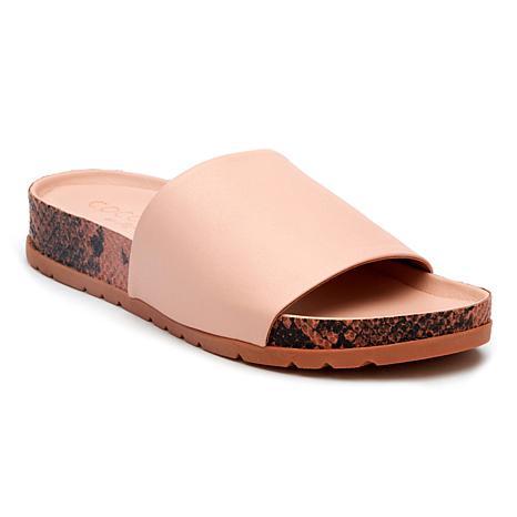Coconuts by Matisse Shift Leather Slide Sandal