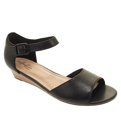 Collection by Clarks Abigail Jane Leather Wedge Sandal