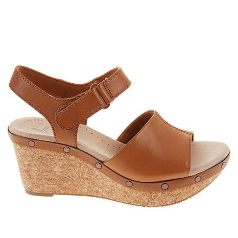 c2f95e02b80 Collection by Clarks Annadel Clover Leather Wedge Sandal - 8905701