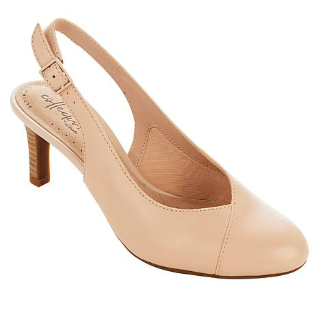 Collection by Clarks Dancer Mix Leather Slingback Pump