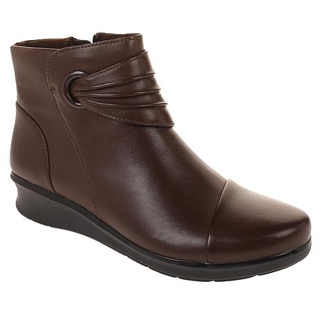 Collection by Clarks Hope Twirl Leather Bootie