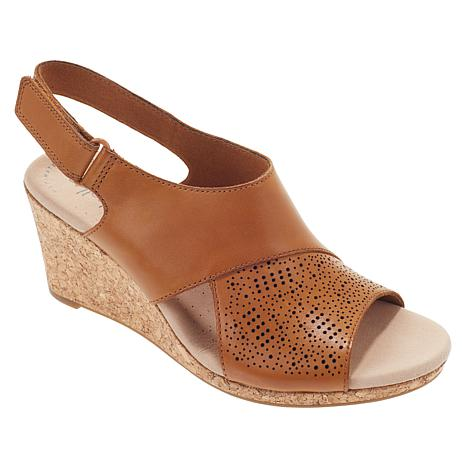7e7eb35033b7e Collection by Clarks Lafley Joy Leather Cork Wedge Sandal - 8866719 ...