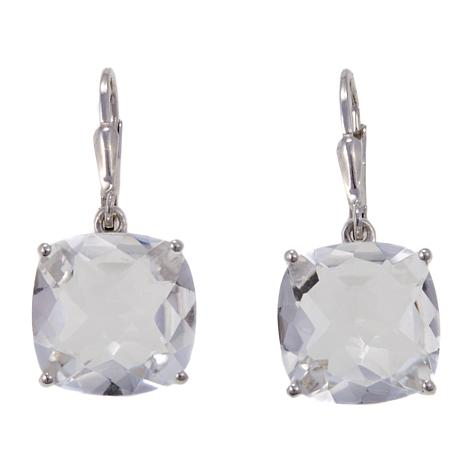 Colleen Lopez 13 4ctw Cushion Cut Quartz Drop Earrings