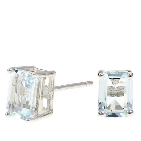 Colleen Lopez 1 5ctw Emerald Cut Aquamarine Earrings