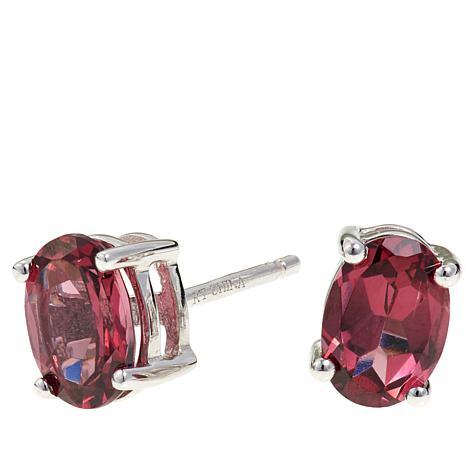 Colleen Lopez 1.5ctw Oval Tanga Garnet Stud Earrings